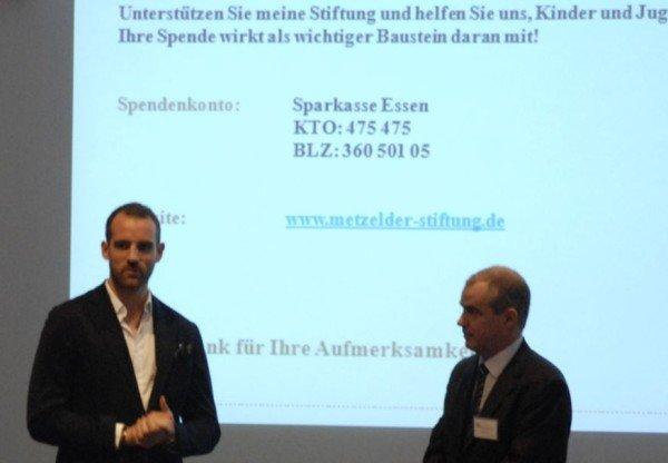 Christoph Metzelder - Andreas Rosner - Spendenkonto Metzelder-Stiftung - Gies und Heimburger Duisburg 18-04-2013