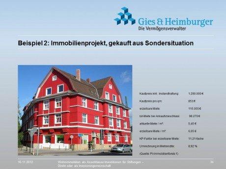 Immobilien aus Sondersituation mit hoher Mietrendite für Stiftungen